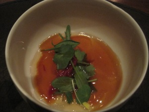 Oxtail broth with sea urchin. Oh. mah. gawd! This was out of control.