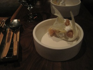 Banana split with spiced marshmallows and candied parsley root. Again. Seriously?!